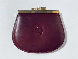 Außergewöhnliche Vintage CARTIER Geldbörse aus Leder