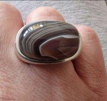 außergewöhnlicher massiver Silberring von Esprit mit Achat?