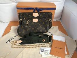 Louis Vuitton Clutch grey brown-brown