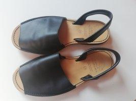 AVARCA MENORQUINA Comfort Sandals black leather