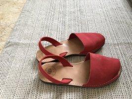 AVARCA MENORQUINA Comfortabele sandalen lichtrood Leer