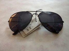 Aviator Pilotenbrille Sonnenbrille schwarz unisex