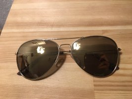 Aviator Sonnenbrille gold