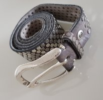 B Belt Leather Belt silver-colored-grey