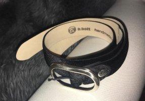 B Belt Ceinture en cuir noir cuir