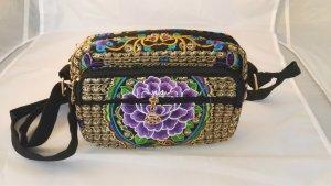 B3 Vintage Umhängetasche Tasche Handtasche mit Stickerei Embroidery Bag Neu