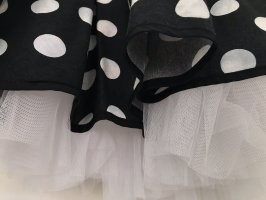 Tulle Skirt white-dark blue