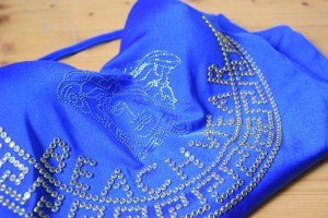 Badeanzug blau mit Strass - Versace