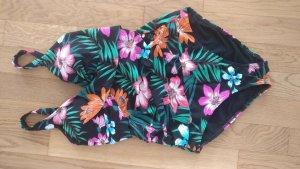 Badeanzug Dschungelprint C&A schwarz pink grün shaping