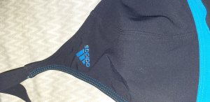 Adidas Y3 Maillot de bain blanc-bleu foncé