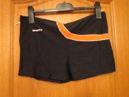 Zwemshorts zwart-oranje
