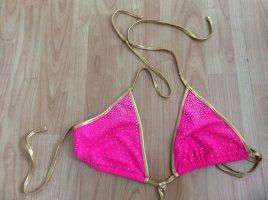 Soleil Sucre Bikini neonroos-donkergeel Gemengd weefsel
