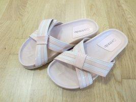 Comfort Sandals dusky pink-white