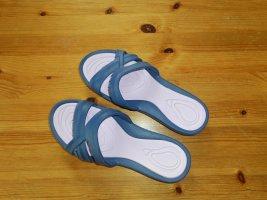 Strandsandalen blauw-lichtroze