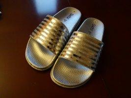 Comfortabele sandalen zilver kunststof