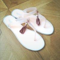 TOPTEAM Sandalo toe-post bianco-rosa pallido