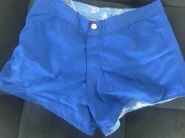 Costume boxer blu neon-bianco