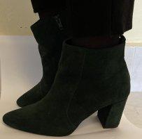Bagatt Stiefeletten 39 dunkelgrün Leder Casual High Heels
