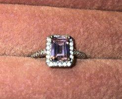 Baguette Ring 925 Silber