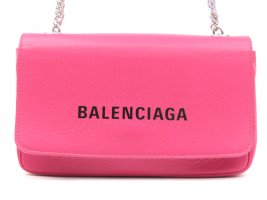 Balenciaga Everyday Leather Wallet on Chain