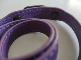 Balenciaga Leather Bracelet lilac