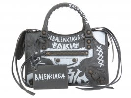 Balenciaga Motocross Classic Mini City Graffiti Bag