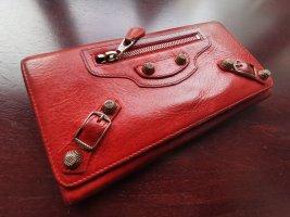 Balenciaga Portefeuille rouge-rouge foncé