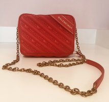 Balenciaga Crossbody bag gold-colored-red leather