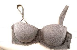 Censored Bra silver-colored-grey