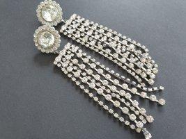 Modeschmuck Zdobione kolczyki srebrny