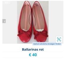 Pretty ballerinas Patent Leather Ballerinas brick red