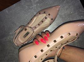 Primark Ballerina di pelle verniciata color oro rosa-oro