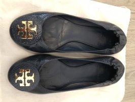 Tory Burch Patent Leather Ballerinas slate-gray