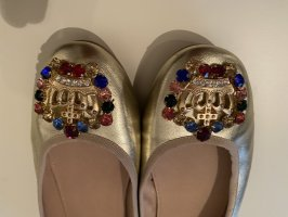 Si Barcelona Patent Leather Ballerinas gold-colored