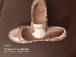 Guess Bailarinas plegables color oro-blanco puro