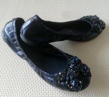 Kennel & Schmenger Bailarinas plegables azul-azul oscuro
