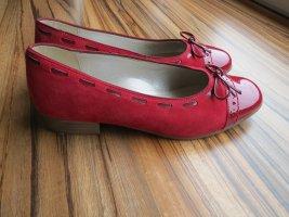 ara Ballerines en cuir verni rouge