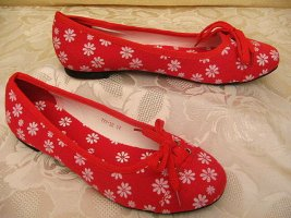 Ballerina Rot Weiß Größe 38 Plimsolls