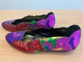 Beverly Feldman Ballerines classiques multicolore cuir