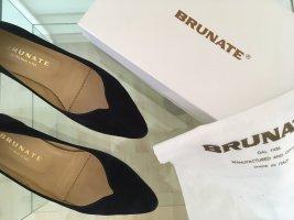 Ballerina Schuhe schwarz samt Größe 40 von Brunate