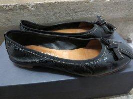 Peperosa Ballerina di pelle verniciata nero Pelle