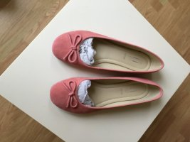 Peep Toe Ballerinas pink leather