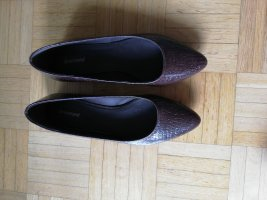 Graceland Ballerinas with Toecap brown red