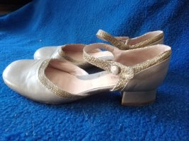Alberto Fermani Ballerines Mary Jane gris brun-beige clair