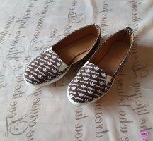 Baleriny Mary Jane biały-brązowy