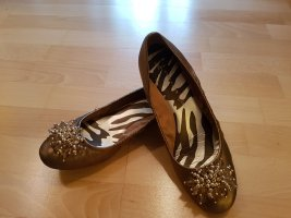 Anne Klein Ballerinas with Toecap bronze-colored