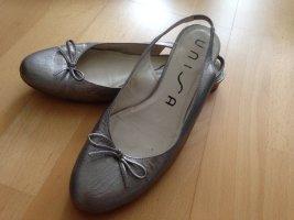 Ballerinas aus Leder Gr. 37 in Silber
