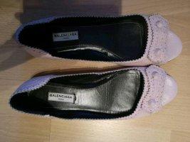 Balenciaga Ballerines à lacets rose clair
