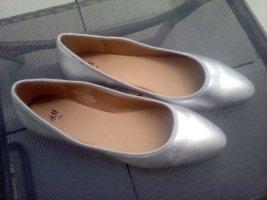 H&M Ballerina's met kant zilver