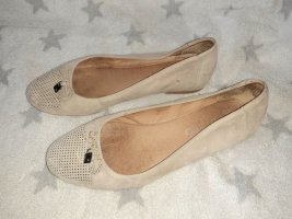 Patent Leather Ballerinas grey brown-light brown